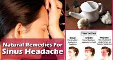 Home remedies to get rid of sinus headache