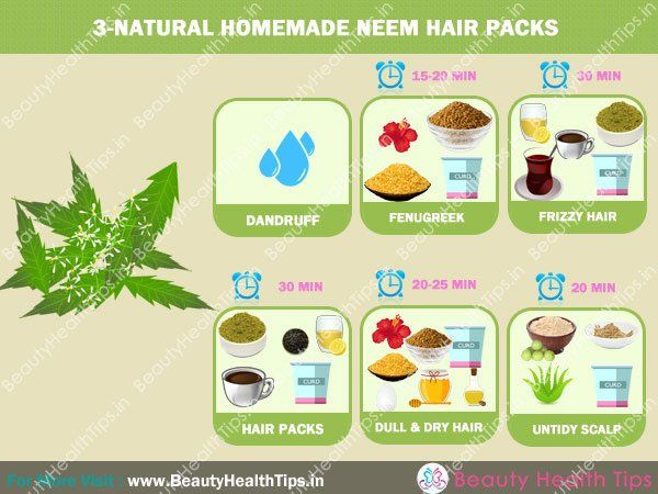 3-Natural homemade neem hair packs