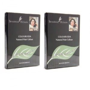 Shahnaz Husain Colourveda natural hair color blackish brown