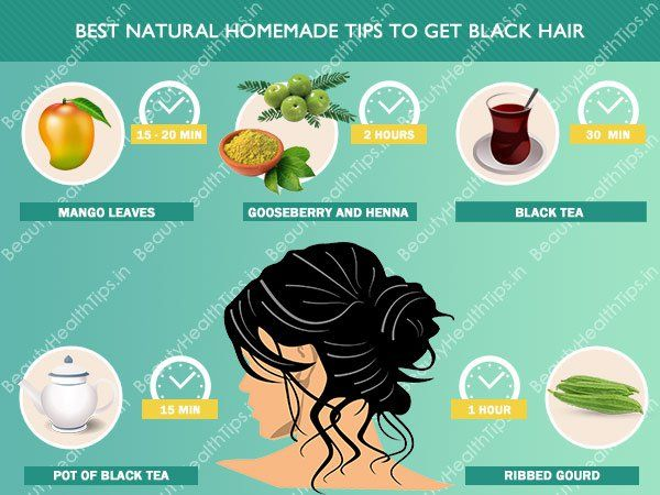 Best natural homemade tips to get black hair