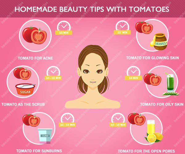 Homemade beauty tips with tomatoes - how to use tomato for skin care problems