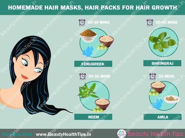Homemade hair masks, hair packs for hair growth