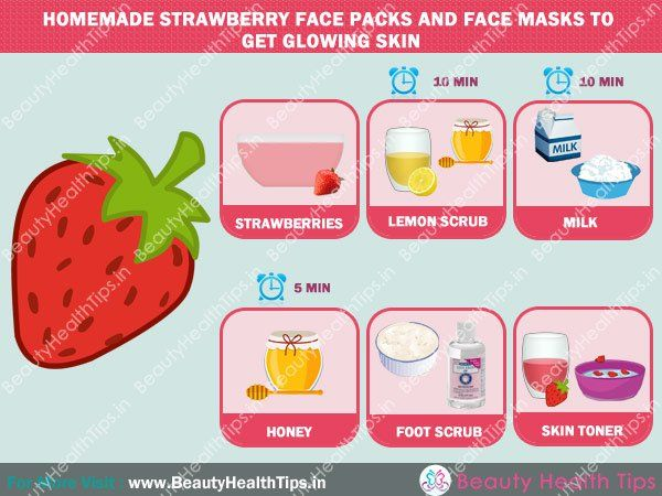 Homemade strawberry face packs and face masks to get glowing skin