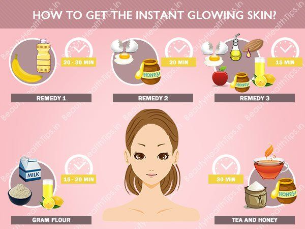 How to get the instant glowing skin?