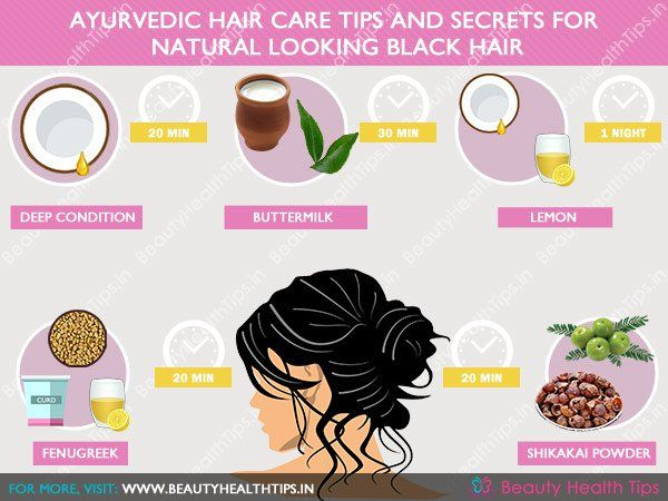 Natural ayurvedic hair care tips and secrets for natural looking black hair
