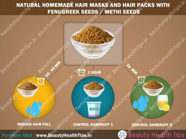 Natural homemade hair masks and hair packs with fenugreek seeds / methi seeds