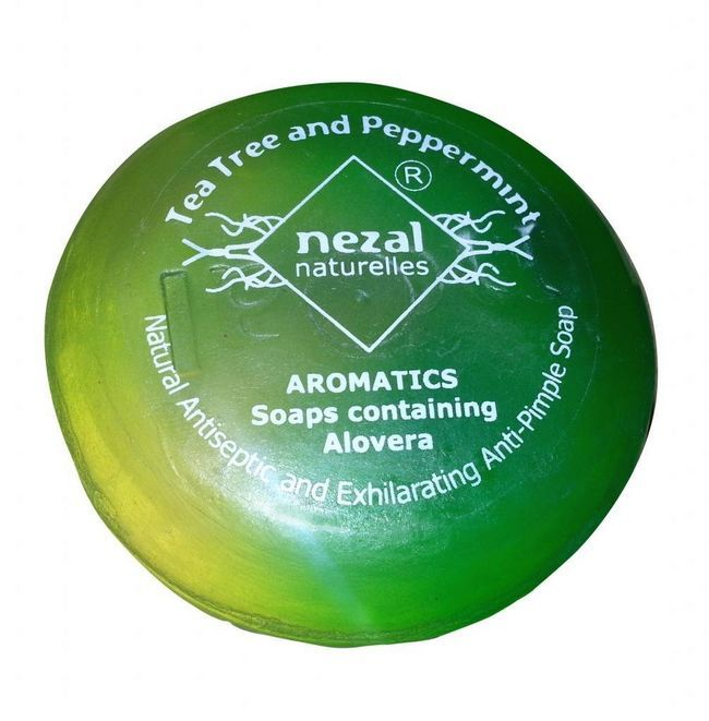 Nezal Round Soap 85g (Tea Tree and Peppermint)