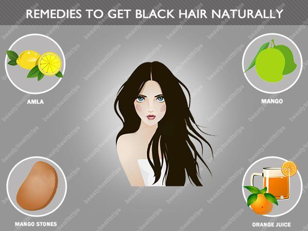 Top home remedies to get black hair naturally