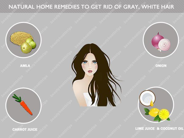 Top natural home remedies to get rid of gray, white hair