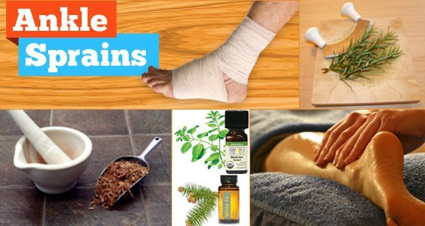 How to take care of sprained ankle with natural remedies
